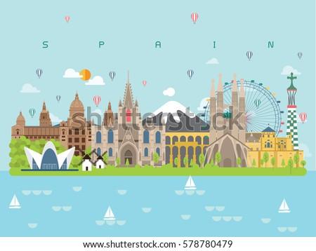spain landmarks travel and