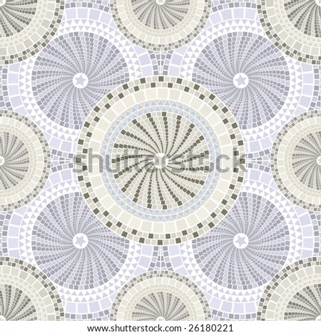 Spain mosaic pattern seamless tileable