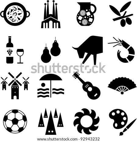 Spain pictograms