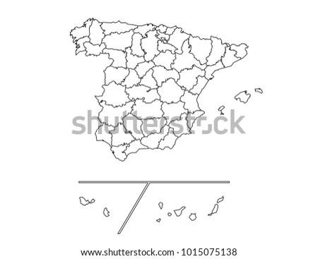 spain provinces outline map