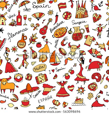 spain  seamless pattern for