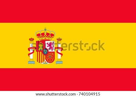 spain vector flag vector
