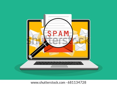 spam email warning window