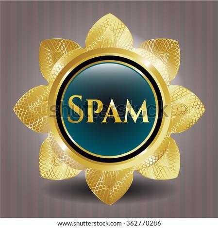 Spam gold shiny emblem