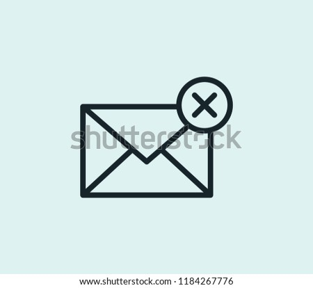Spam icon line isolated on clean background. Spam icon concept drawing icon line in modern style. Vector illustration for your web mobile logo app UI design.