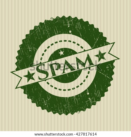 Spam rubber stamp with grunge texture