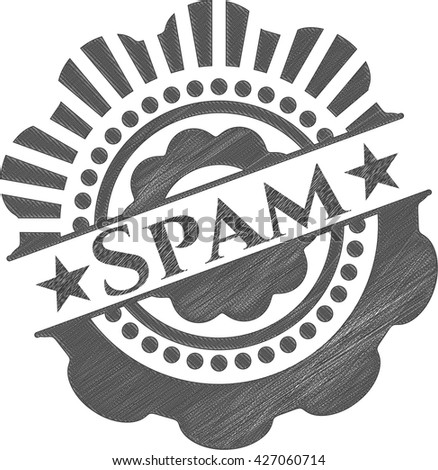 Spam with pencil strokes