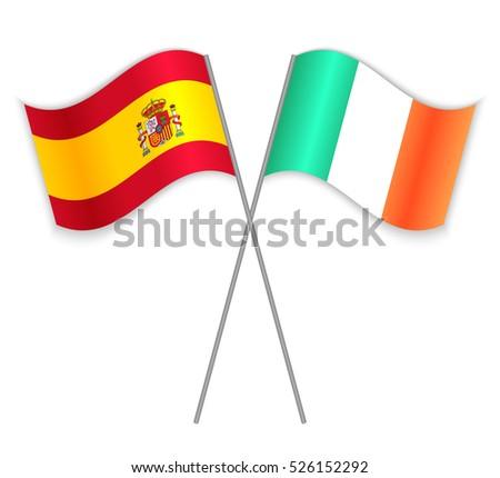 spanish and irish crossed flags