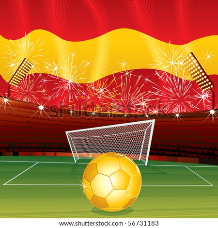 Spanish celebrating background vector