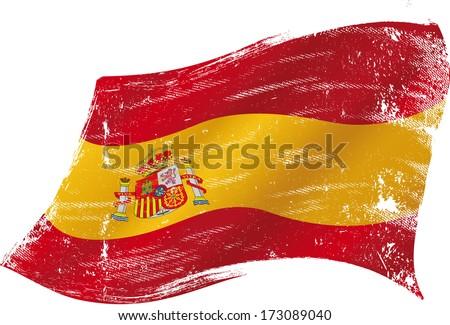 spanish flag grunge spanish