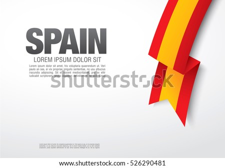 spanish flag on a white