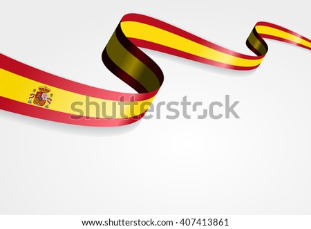 spanish flag wavy abstract