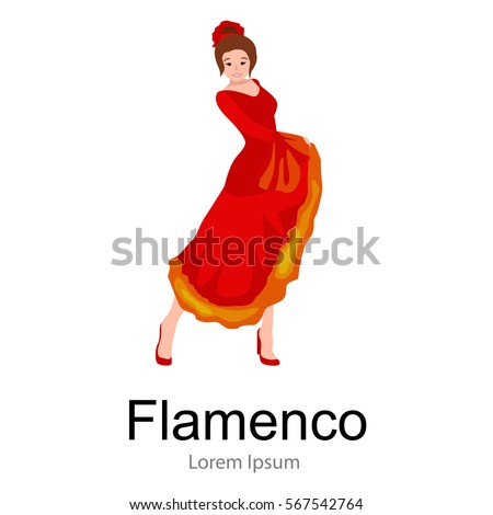 spanish girl flamenco dancer in