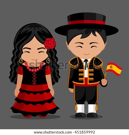 spanish in national dress with