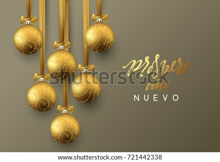 Spanish christmas greetings download free vector art stock spanish prospero ano nuevo feliz navidad christmas greeting card design of xmas golden m4hsunfo