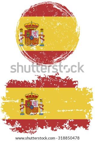 spanish round and square grunge