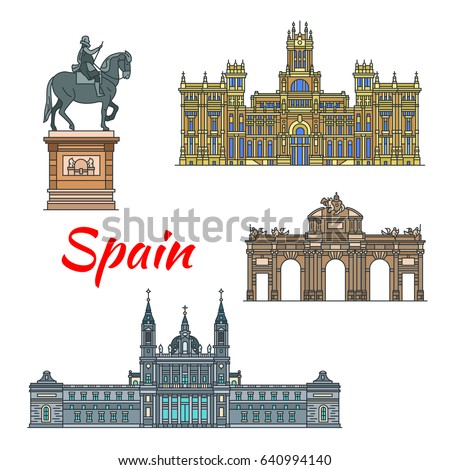 spanish travel landmark of