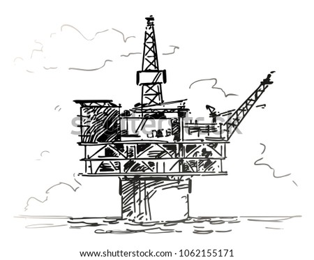 Spar platform sketch