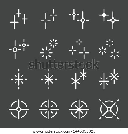 sparkle and shiny flash icon set. vector and illustration. Stockfoto ©