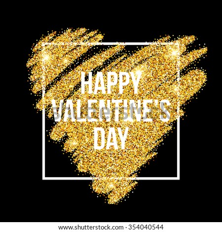 sparkle glitter valentines day