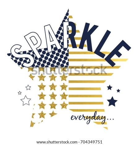 sparkle slogan and star vector