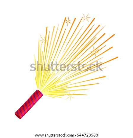 sparkler isolated pyrotechnic