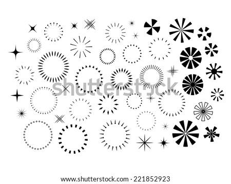 sparkles and starbursts set
