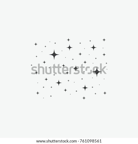 Sparkles Stars Vector Icon
