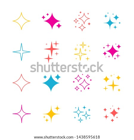 Sparkles symbols vector. The set of original vector stars sparkle icon. Bright firework, decoration twinkle, shiny flash. Glowing light effect stars and bursts collection.