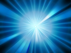 Sparkling blue rays in a straight line from the center - beautifully distributed, backgrounds, abstract - vector