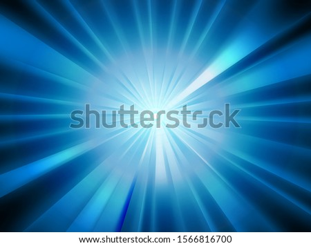 sparkling blue rays in a