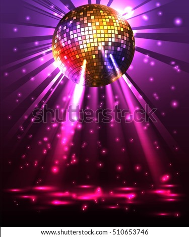 sparkling disco ball night