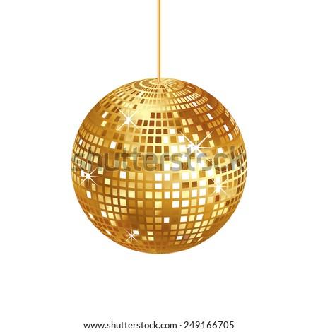 sparkling gold disco ball