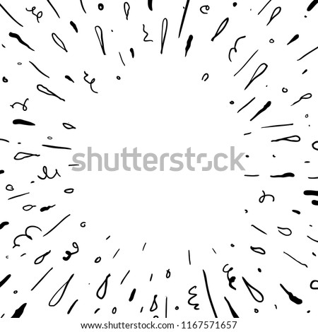 sparkling hand drawn