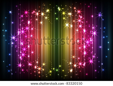 sparkling lights on rainbow