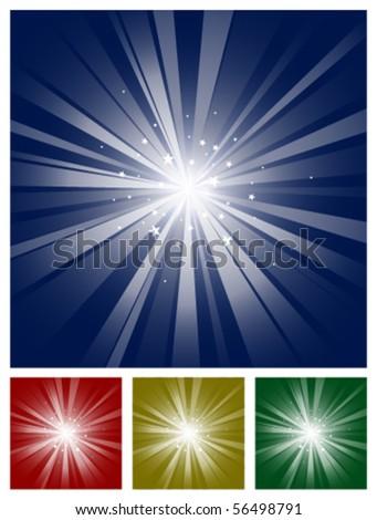 sparkling star light burst