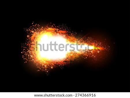 sparkling stars light effect