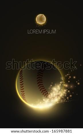 sparkling vector baseball