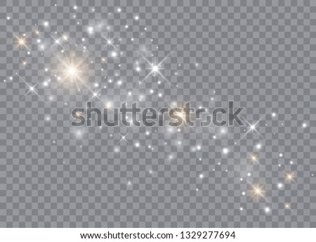 Sparks glitter special light effect. Vector sparkles on transparent background. Christmas abstract pattern. Sparkling magic dust particles.