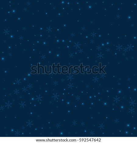 sparse glowing snow scatter