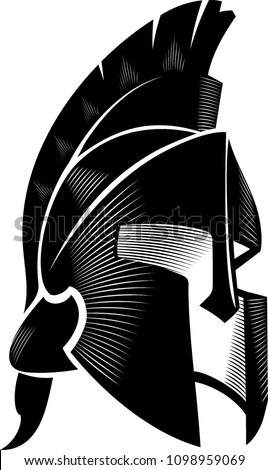 Spartan Helm Calligraphic Angled View