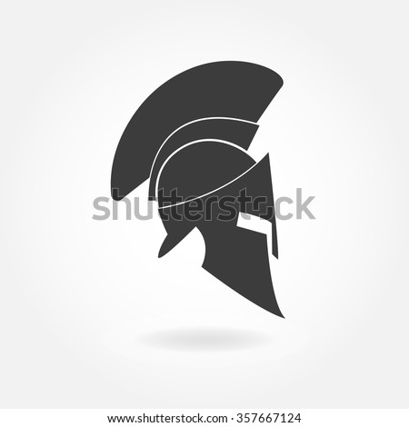 Royalty Free Spartan Helmet Icon Ancient Roman Or 395049895 Stock