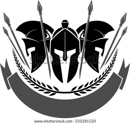 spartan helmet with blank label