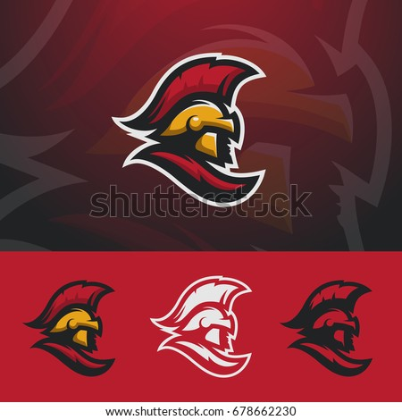 spartan logo design warrior