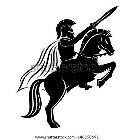 spartan on a horse