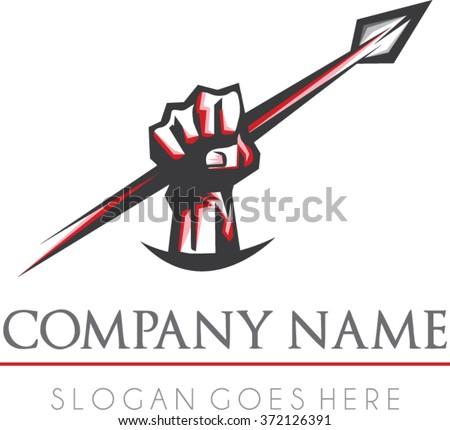 spartan rise logo vector   flat