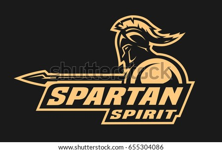spartan spirit symbol  logo on