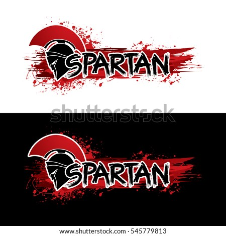 spartan text designed with