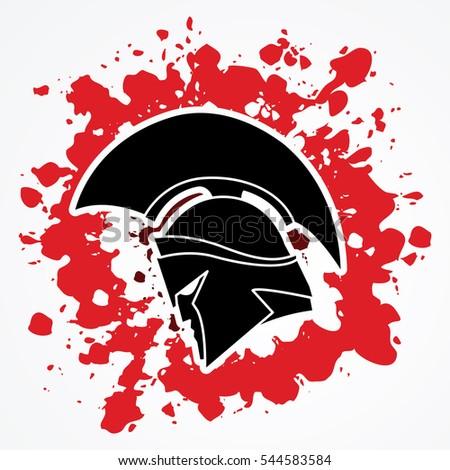 spartan warrior helmet designed