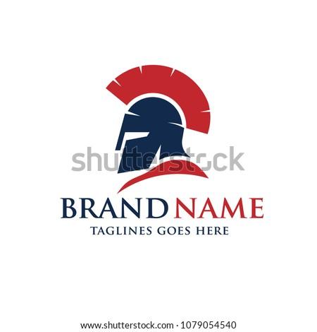 spartan warrior helmet vector design